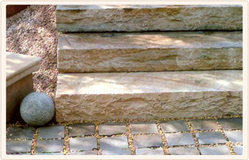 Grey Solid Steps Stone