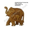 Sandalwood Carved Elephant