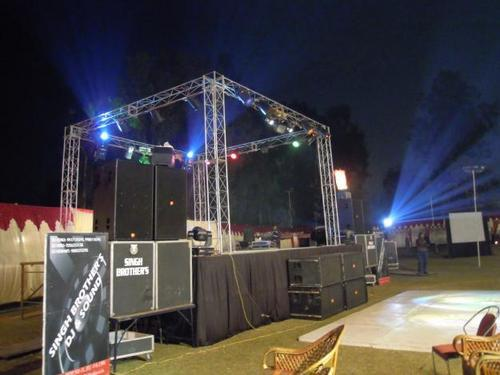 Dj Stage In Chandigarh Sector 8 B By Singh Brothers Dj