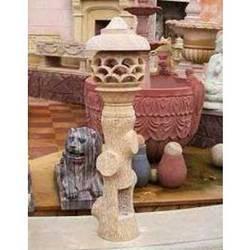Beige Sandstone Lamp Post
