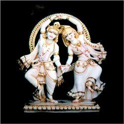 Radha Krishna Dansing Marble statue....