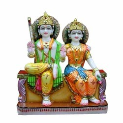 Beautiful Pair of Ram and Sita Darbar