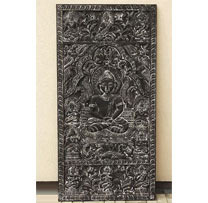wooden carved buddha panel