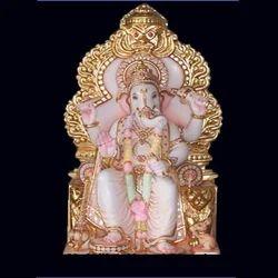 GA-4051 Lalbaugcha Raja Ganesh Marble Statue
