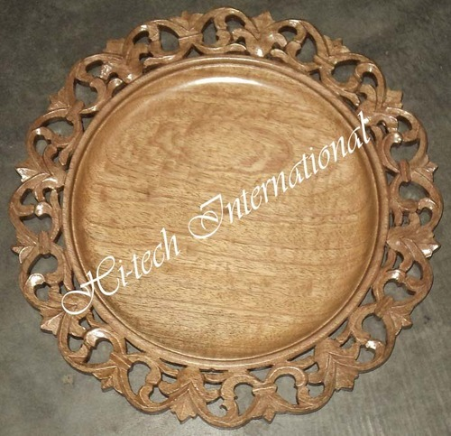 Wooden Charger Plates & Antique Charger Plates - Decorative Charger Plate Exporter from ...