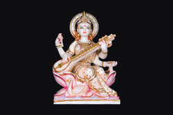 Asthetically Carved Goddess Saraswati Ji