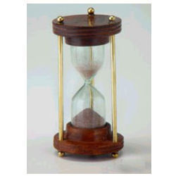 Sand Timer Wooden Base (3 Brass Rods 1 Minutes)