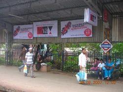 Advertising Boards At Mumbai Railway Stations