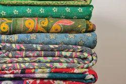 Reversible Sari Kantha Quilt
