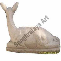Sitting Deer Statue
