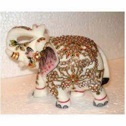 Elephant Pair 8x10 Inch