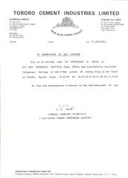 Certificate by TORORO