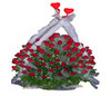 Round Arrangement Of 100 Red Roses