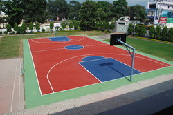 Synthetic Outdoor Basketball Court Flooring