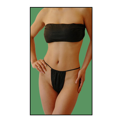 00ecdb53fe Black Disposable Bra Wrap And Panties Set