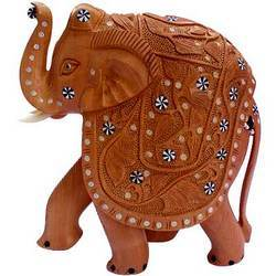 Wooden Inlay Fine Carving Elephant