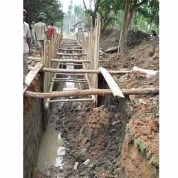 Open Surface Drainage System, Builders, Construction Job