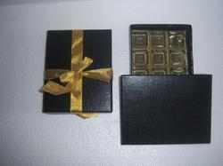 Cardboard Rectangle Textured Paper Chocolate Boxes, For Apparel