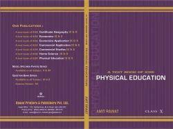 ICSE Physical Edu Text Book Ix&x