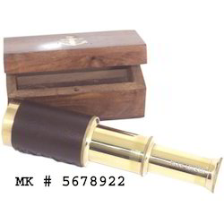 MKI Brass Telescope with Wooden Box, Model Name/Number: MK 5678922