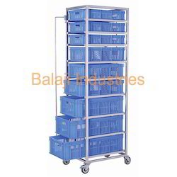 Vegetable Storing Rack Trolley