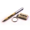 Personalized Marble Pen and Key Chain Set