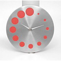 Galaxy Wall Clock Red
