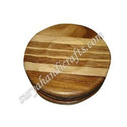 Wooden Round Chess