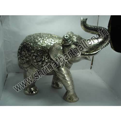 White Metal Elephant