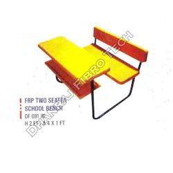 FRP Two Seater School Bench
