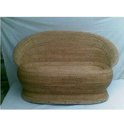 Round Cane Sofa