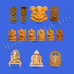 Wood Ganesha Handicraft
