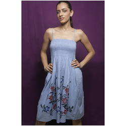 Cotton Hand Print Dress
