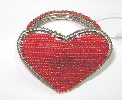 Heart Shape Beaded Napkin Ring