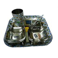 Stainless Steel Oxidized Dinner Set