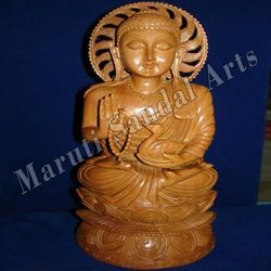 Sandalwood Buddha with Mala