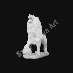 Lion Roaring High Statue
