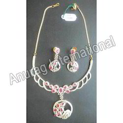 Diamond with Ruby Necklace Set