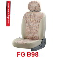 Beige Fabguard Jacquard Car Seat Covers