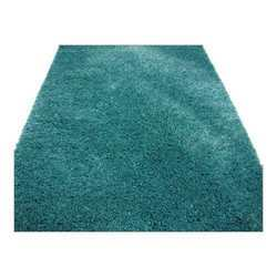 Thin Thick Acqua Shaggy Carpet