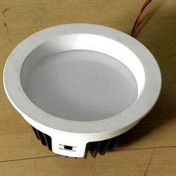Round Black LED AC Surface Down Light, IP33, 5 W