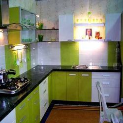 L Shape Kitchen Interiors Service In Pune Creative Home Decor Id