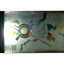 Colored Air Brushed Glass
