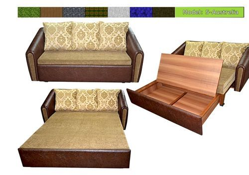 Bed Cum Sofa Set Chairs Sofas Seating Furniture Green