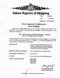 IRS Certificate