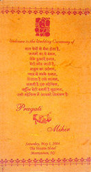 Exporter of hindu wedding cards wedding program guide by sudarshan indian wedding cards stopboris Images