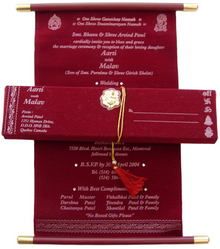 Scroll Invitation Card Scroll Invitation Latest Price