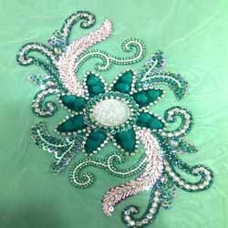 Hand Embroidered Fabrics In Surat Haath Ki Kadhai Wale