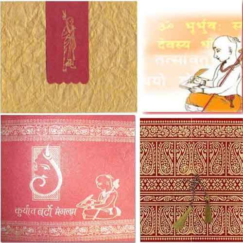 Thread Ceremony Card View Specifications Details of Wedding