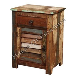 Recycled Wood Bed Side Table